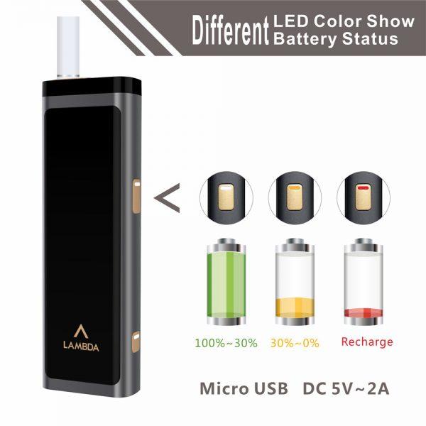 LAMBDA T3 Heat Not Burn Tobacco Heating Device (Black)